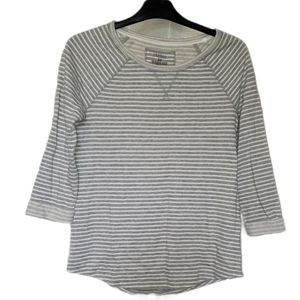 Sonoma Striped French Terrycloth Sweatshirt XS